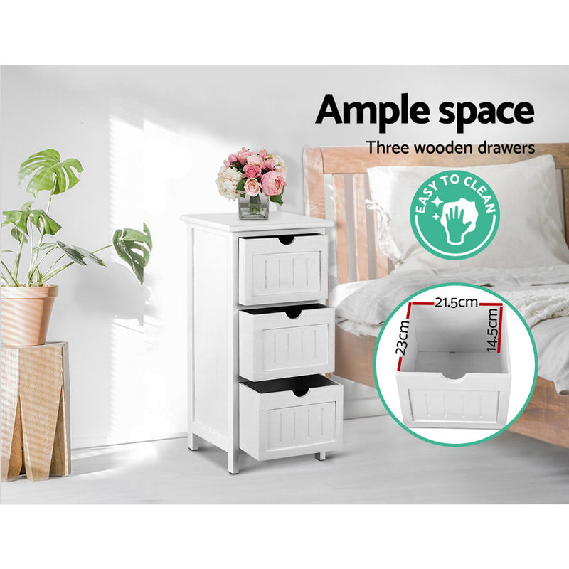 Artiss Bedside Table - White - Sale Now