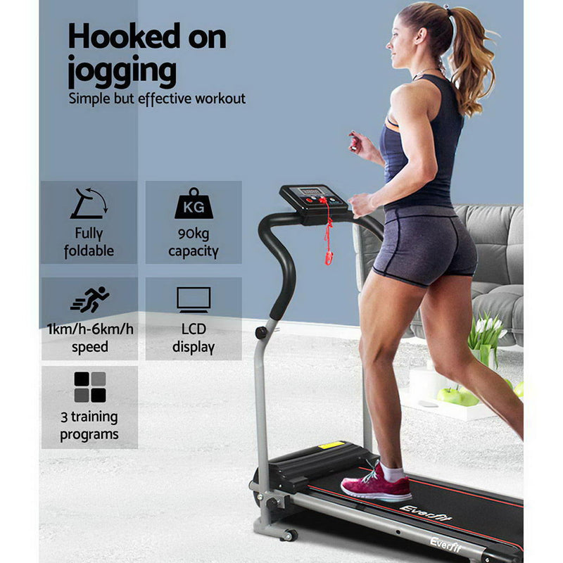 Everfit Home Electric Treadmill - Black - Sale Now
