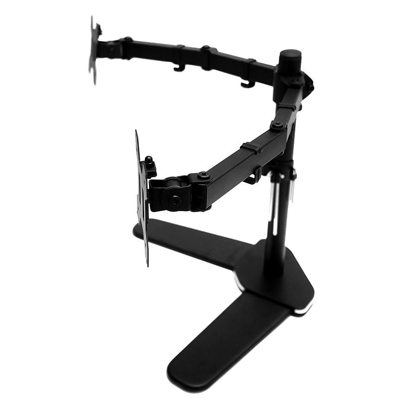 "13""-27"" Dual Screen Monitor Stand TV Bracket Computer Display Desk Mount Holder - Sale Now"