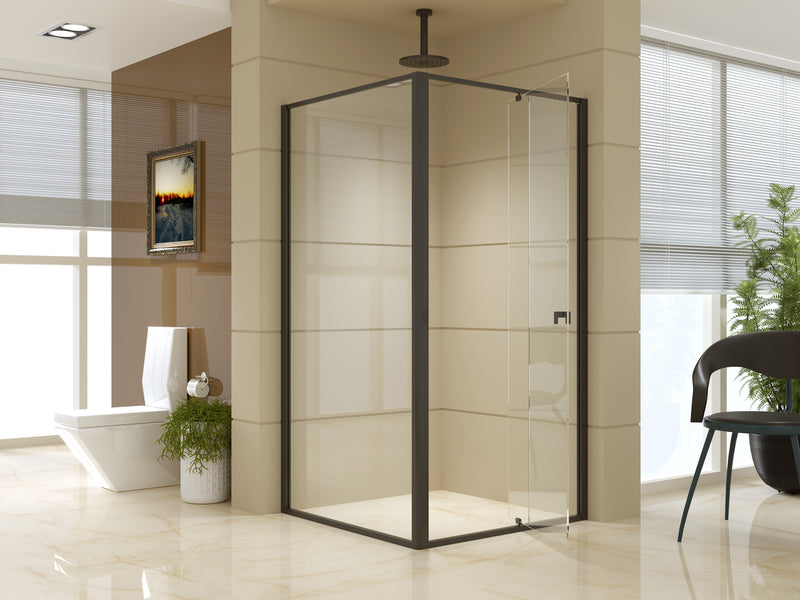 Semi Frameless Shower Screen (98~106)x 195cm & (98~101)x 195cm Side AS/NZS Glass - Sale Now