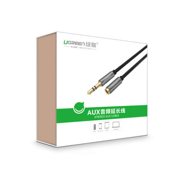 UGREEN 3.5mm Male to 3.5mm Female extension cable 2M (10594) - Sale Now