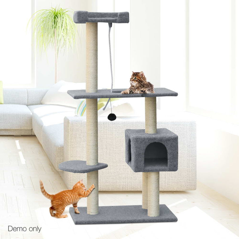 i.Pet 145cm Cat Scratching Post - Grey - Sale Now