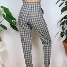 Load image into Gallery viewer, Grey Check Trousers 27W