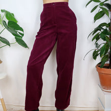 Load image into Gallery viewer, Wild Berry Cord Trousers 30-34W