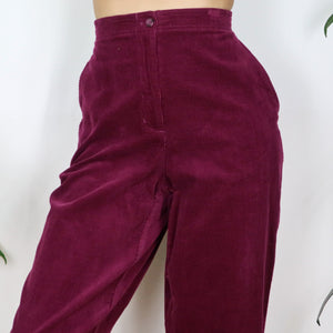 Wild Berry Cord Trousers 30-34W