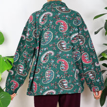 Load image into Gallery viewer, Forest Green Paisley Patterned Fleece