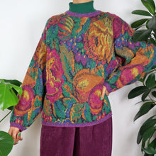 Load image into Gallery viewer, Rainbow Floral Knitted Jumper