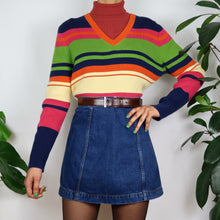 Load image into Gallery viewer, Rainbow Striped Knit Longsleeve