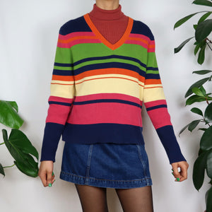 Rainbow Striped Knit Longsleeve
