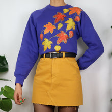 Load image into Gallery viewer, Golden Leaves Embroidered Sweatshirt