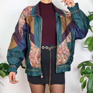 Colour Block Gold Shell Jacket