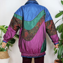 Load image into Gallery viewer, Colour Block Floral Jacket