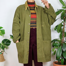 Load image into Gallery viewer, Khaki Green Cord Collared Utility Jacket