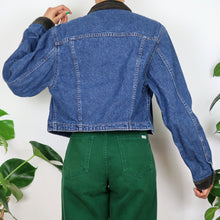 Load image into Gallery viewer, Lee Floral Trim Cord Collared Denim Jacket
