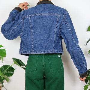 Lee Floral Trim Cord Collared Denim Jacket