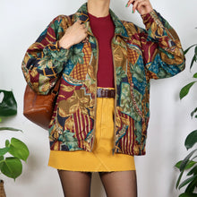 Load image into Gallery viewer, Earthy Patchwork Print Shell Jacket