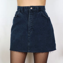 Load image into Gallery viewer, Charcoal A-Line Denim Skirt 30W