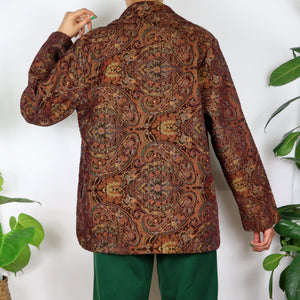 Hazel Brown Paisley Tapestry Jacket