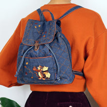 Load image into Gallery viewer, Pooh & Tigger Denim Backpack