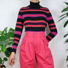 Load image into Gallery viewer, Clown Stripe Turtleneck