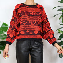 Load image into Gallery viewer, Balloon Red Patterned Jumper