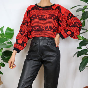 Balloon Red Patterned Jumper