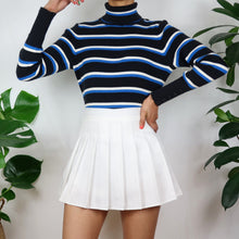 Load image into Gallery viewer, Popcorn Stripe Turtleneck