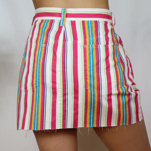 Rainbow Striped Skirt 31W