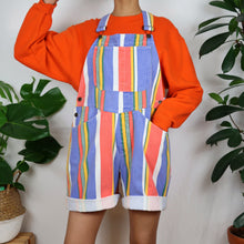 Load image into Gallery viewer, Circus Pastel Striped Dungarees