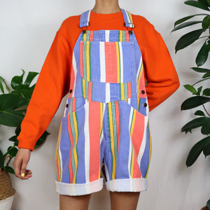 Circus Pastel Striped Dungarees