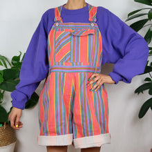 Load image into Gallery viewer, The Ultimate Rainbow Striped Dungarees