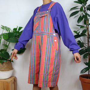 The Ultimate Rainbow Striped Dungarees