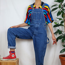 Load image into Gallery viewer, Classic Blue Long Denim Dungarees