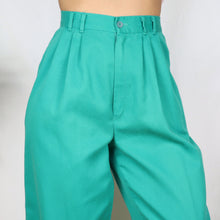 Load image into Gallery viewer, Turquoise Cotton Trousers 28W