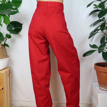 Load image into Gallery viewer, Balloon Red Denim Jeans 33W