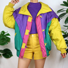 Load image into Gallery viewer, Circus Colour Block Duffle Jacket