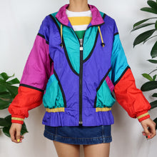 Load image into Gallery viewer, Rainbow Colour Block Shell Jacket