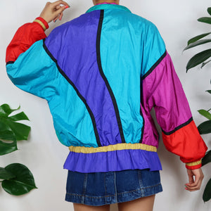 Rainbow Colour Block Shell Jacket