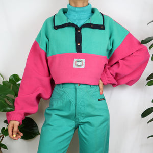 Cotton Candy Colour Block Fleece