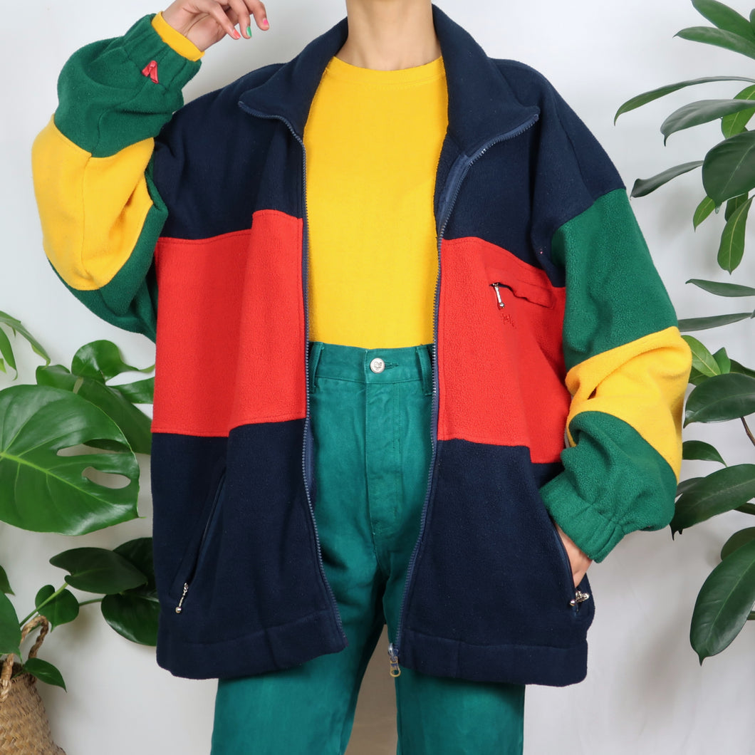 Rainbow Colour Block Fleece
