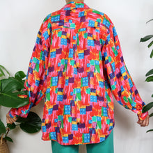Load image into Gallery viewer, Artsy Patchwork Silk Shirt