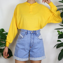 Load image into Gallery viewer, Sunny Yellow Button Up Sweatshirt