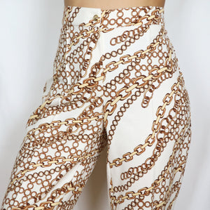 Chain Print Tailored Trousers 34W