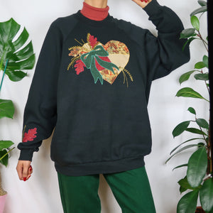 Patchwork Heart Sweatshirt