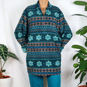 Electric Snowflake Fleece
