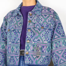 Load image into Gallery viewer, Flashback Purple Tapestry Jacket