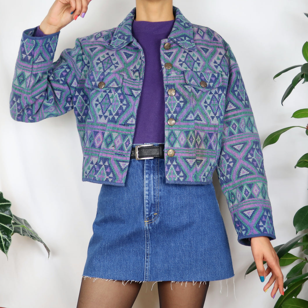 Flashback Purple Tapestry Jacket