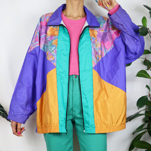 Intergalactic Colour Block Shell Jacket