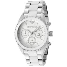 Load image into Gallery viewer, Emporio Armani Ladies AR5940 Sportivo Chronograph White Dial Watch  (Swiss Made)