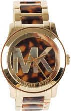 Load image into Gallery viewer, Michael Kors MK5788 Ladies  Tortoise and Gold Runway Watch